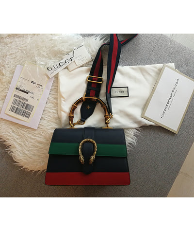 Gucci Green and Red Striped - Boro Dress Rentals