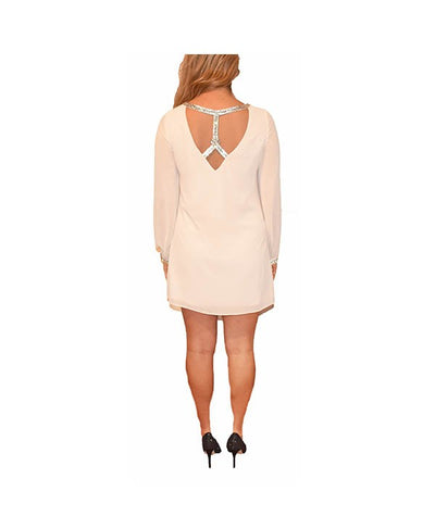Guess Cream Crystal-back - Boro Dress Rentals