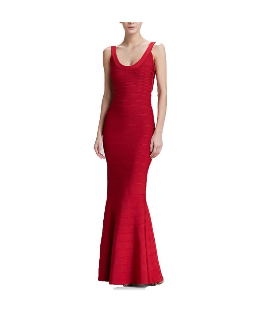 Hervé Leger Red Gown - Boro Dress Rentals