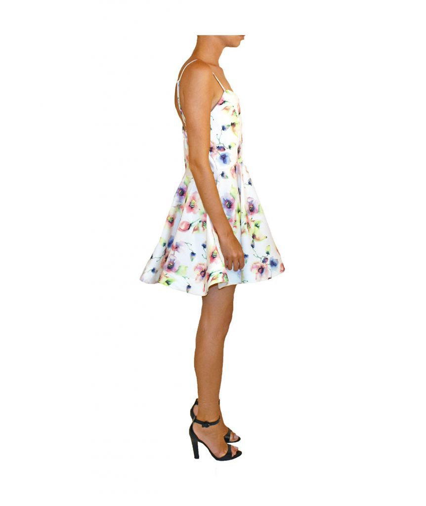 Honey White Floral - Boro Dress Rentals