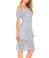 JOA Blue Shoulder Lace - Boro Dress Rentals