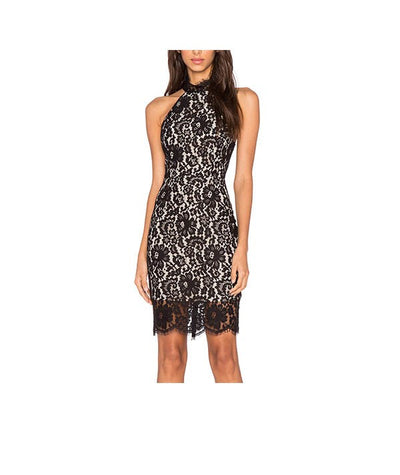 Keepsake Black Nude Lace - Boro Dress Rentals