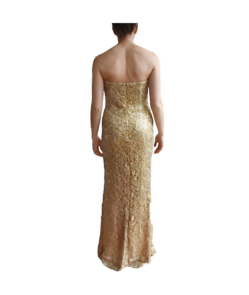 La Femme Gold Sequin Gown - Boro Dress Rentals