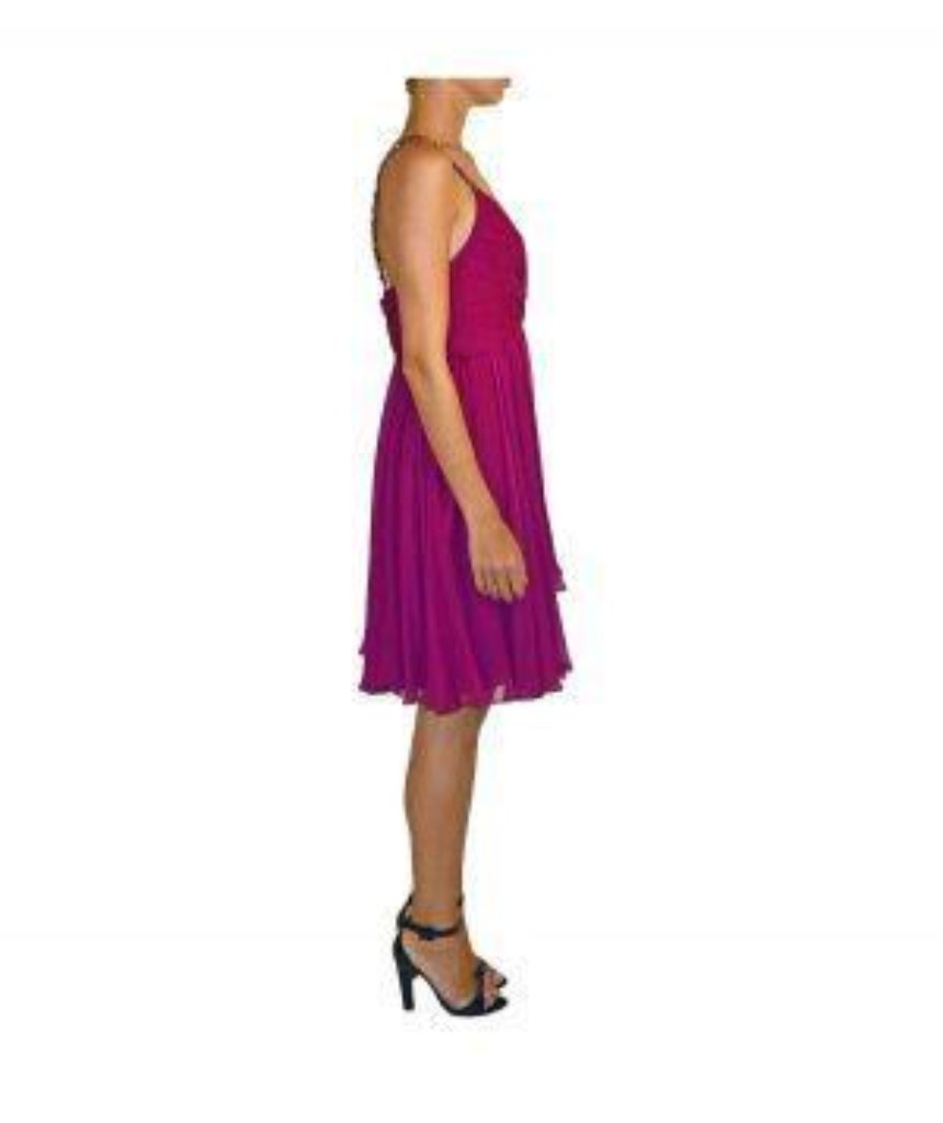 Marchesa Fuchsia Cocktail - Boro Dress Rentals