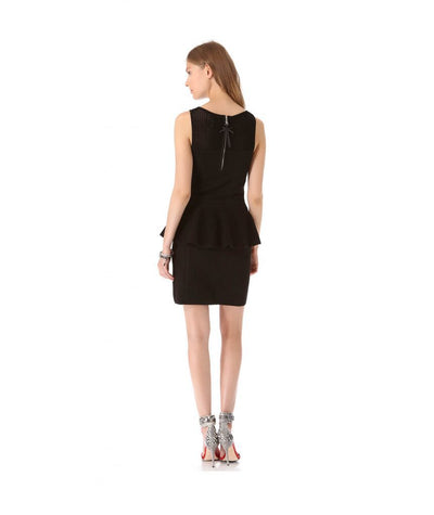 Milly Black Peplum Knit - Boro Dress Rentals