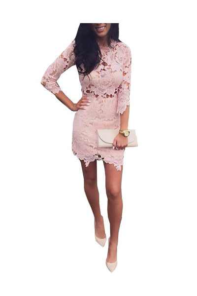 Mura Boutique Pink Lace - Boro Dress Rentals