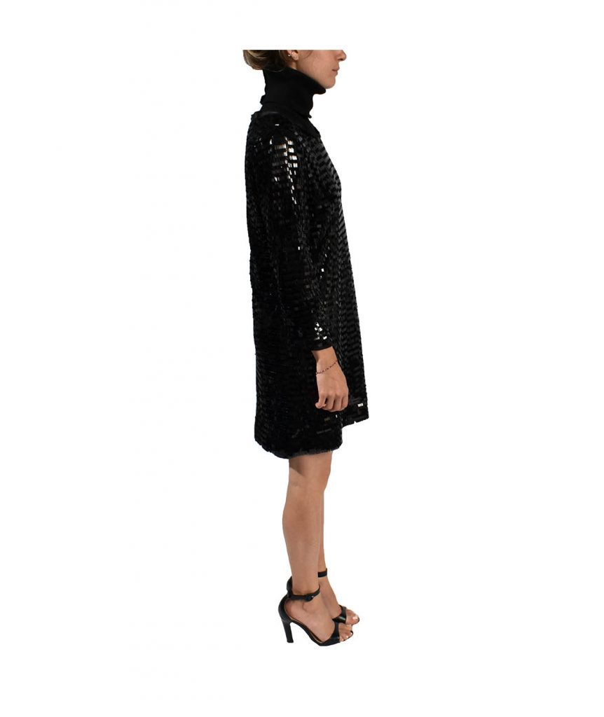 Pink Tartan Sequin Turtleneck - Boro Dress Rentals