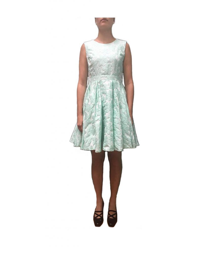 Pink Tartan Mint Floral - Boro Dress Rentals