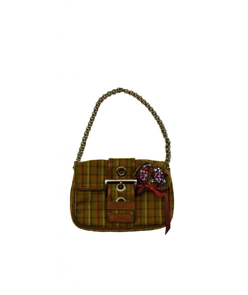 Prada Plaid Green Mini - Boro Dress Rentals
