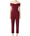 Adelyn Rae Burgundy Romper - Boro Dress Rentals