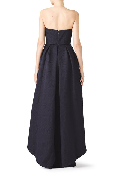 Slate & Willow Dramatic Navy Hi-Low Gown