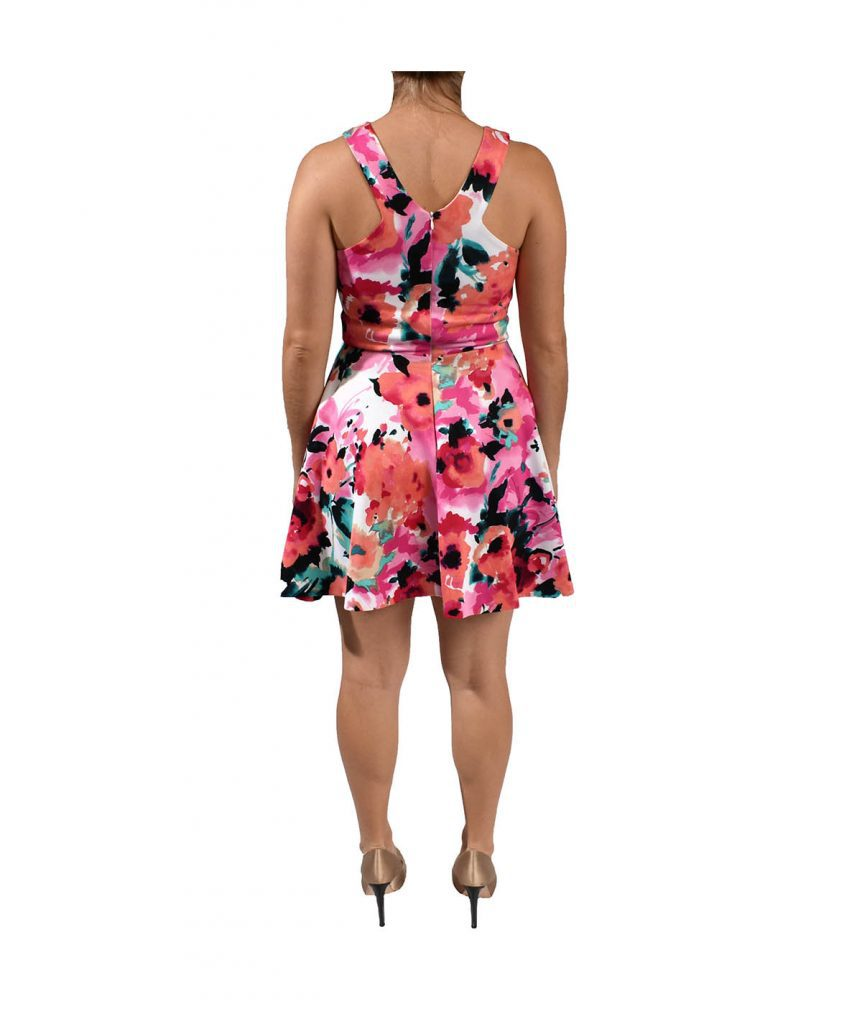 Saks Red & Pink Floral - Boro Dress Rentals