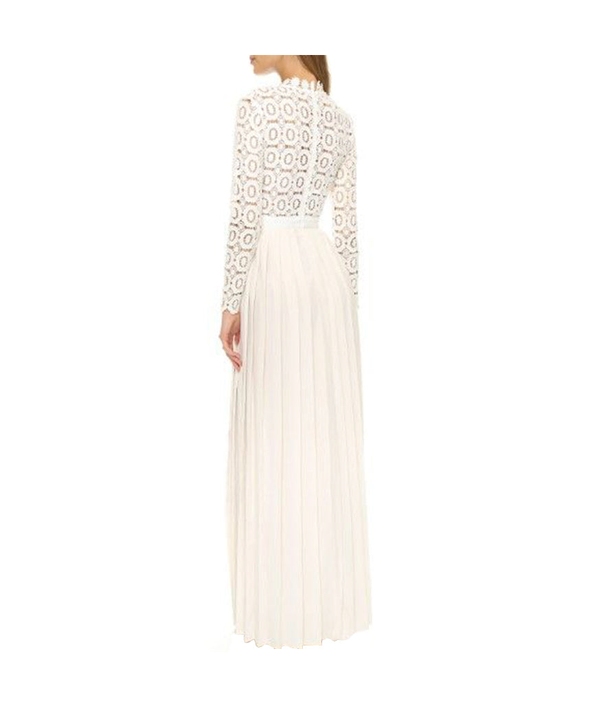Self Portrait White Crochet Gown