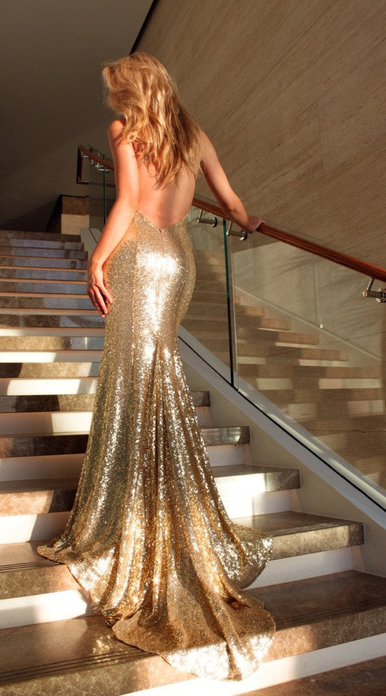 Studio Minc Gold Gown