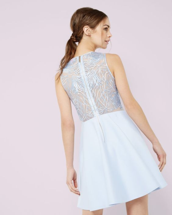 Ted Baker Blue Lace - Boro Dress Rentals