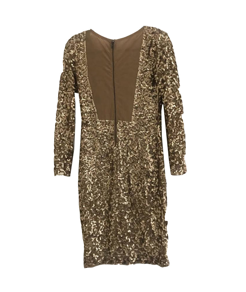 Alice & Olivia Gold Sequin - Boro Dress Rentals