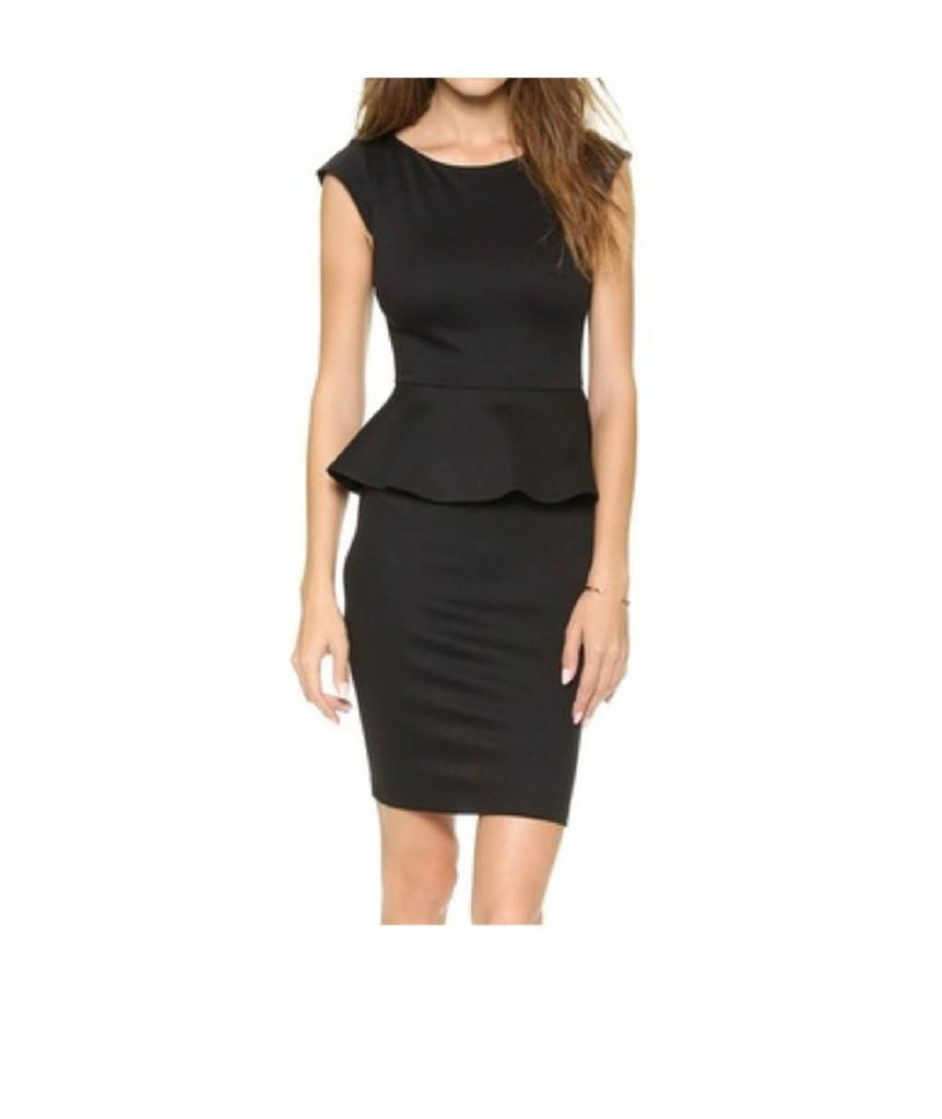 Alice & Olivia Black Peplum - Boro Dress Rentals
