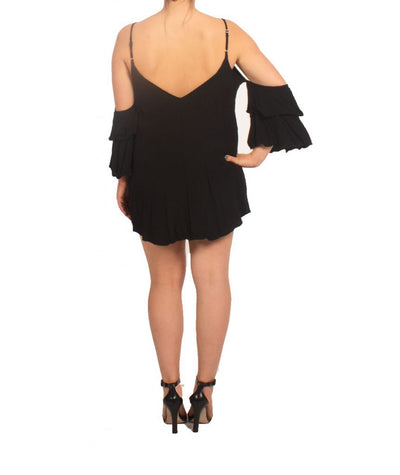 Audrey 3+1 Cold Shoulder Mini - Boro Dress Rentals