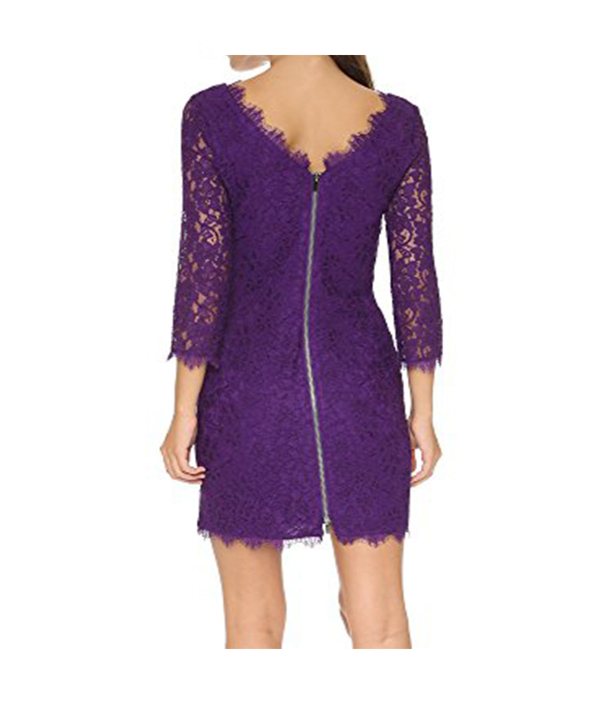 DVF Purple Lace Dress