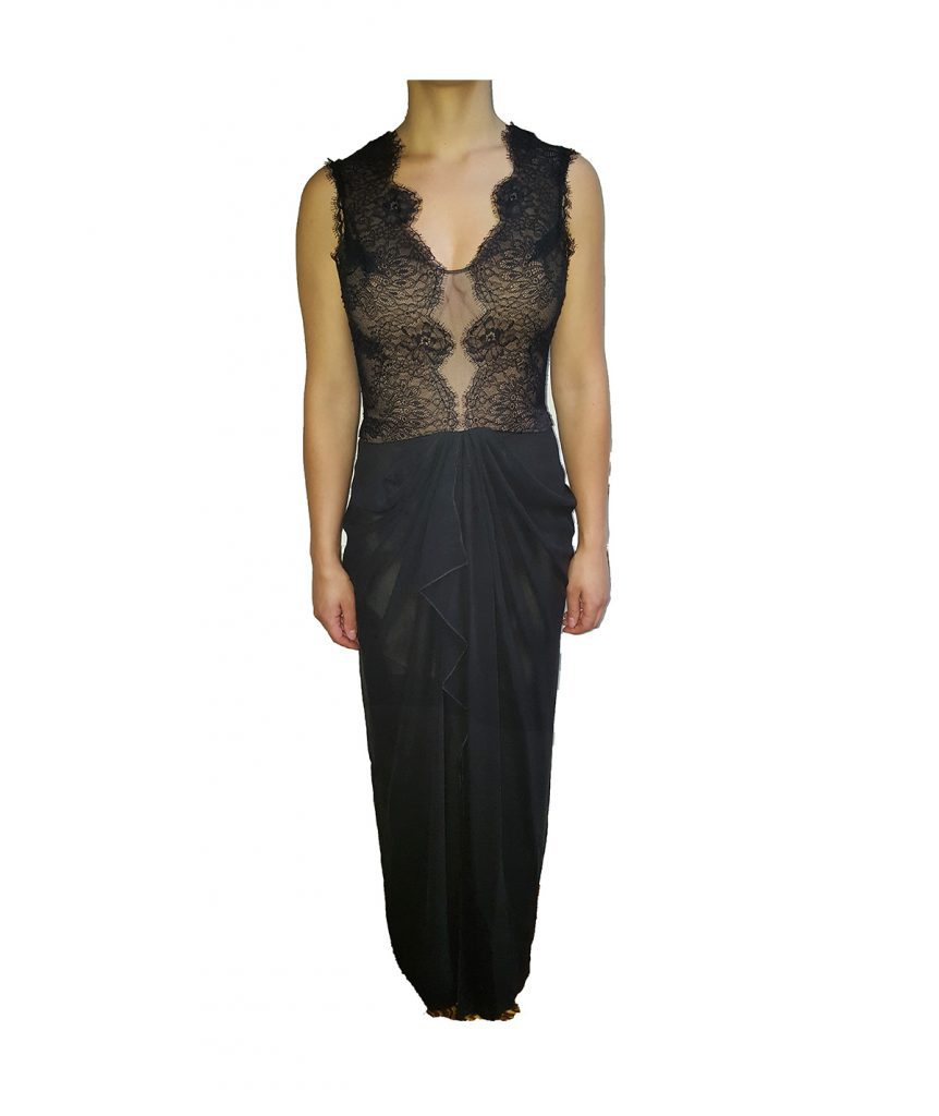 BCBG Black Nude Lace - Boro Dress Rentals
