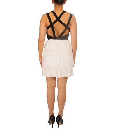 BCBG White Ruffles - Boro Dress Rentals