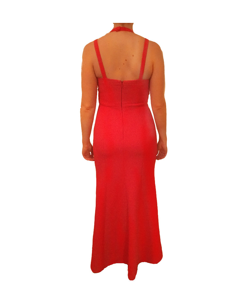 BCBG Red Cut-out Gown