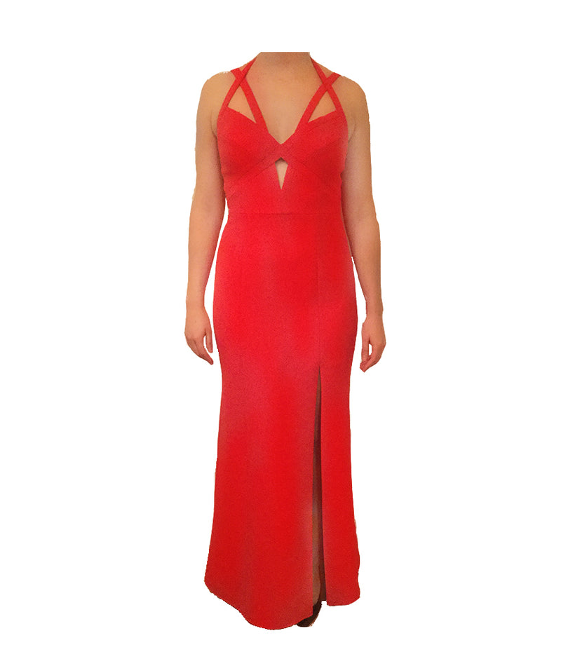 BCBG Red Cut-out Gown | Boro