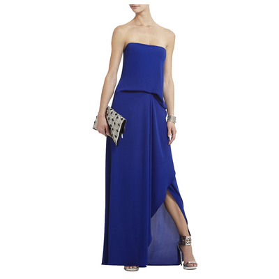 BCBGMAXAZRIA Grace Strapless Gown with Cascading Trim