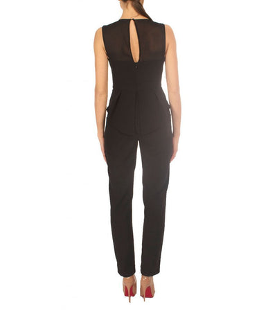 BCBG Black Peplum Jumpsuit - Boro Dress Rentals