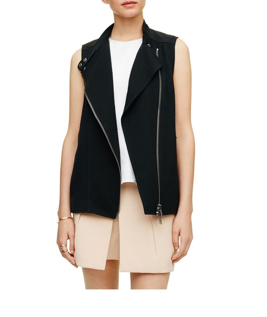Club Monaco Moto Vest - Boro Dress Rentals