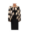 Emporio Armani White & Black Fur - Boro Dress Rentals