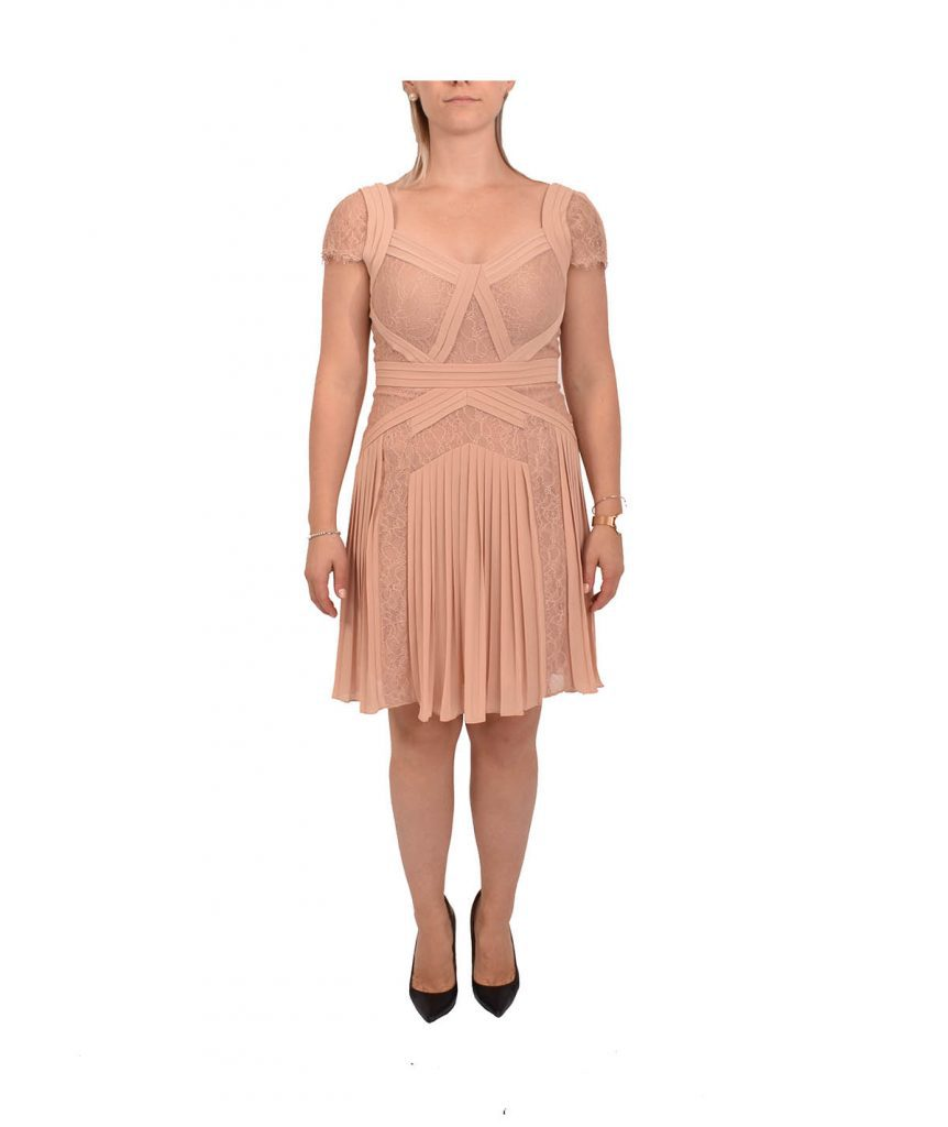 BCBG Blush Lace - Boro Dress Rentals