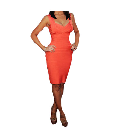 Herve Leger Coral Dress - Boro Dress Rentals