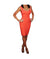 Herve Leger Coral Dress