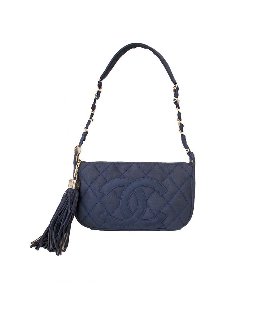 Chanel Navy Clutch - Boro Dress Rentals