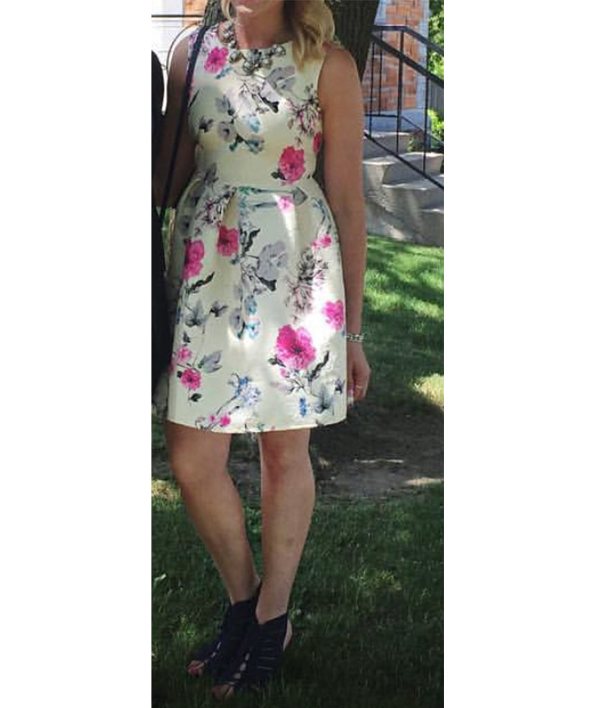Chelsea from Honey Boutique White Floral - Boro Dress Rentals