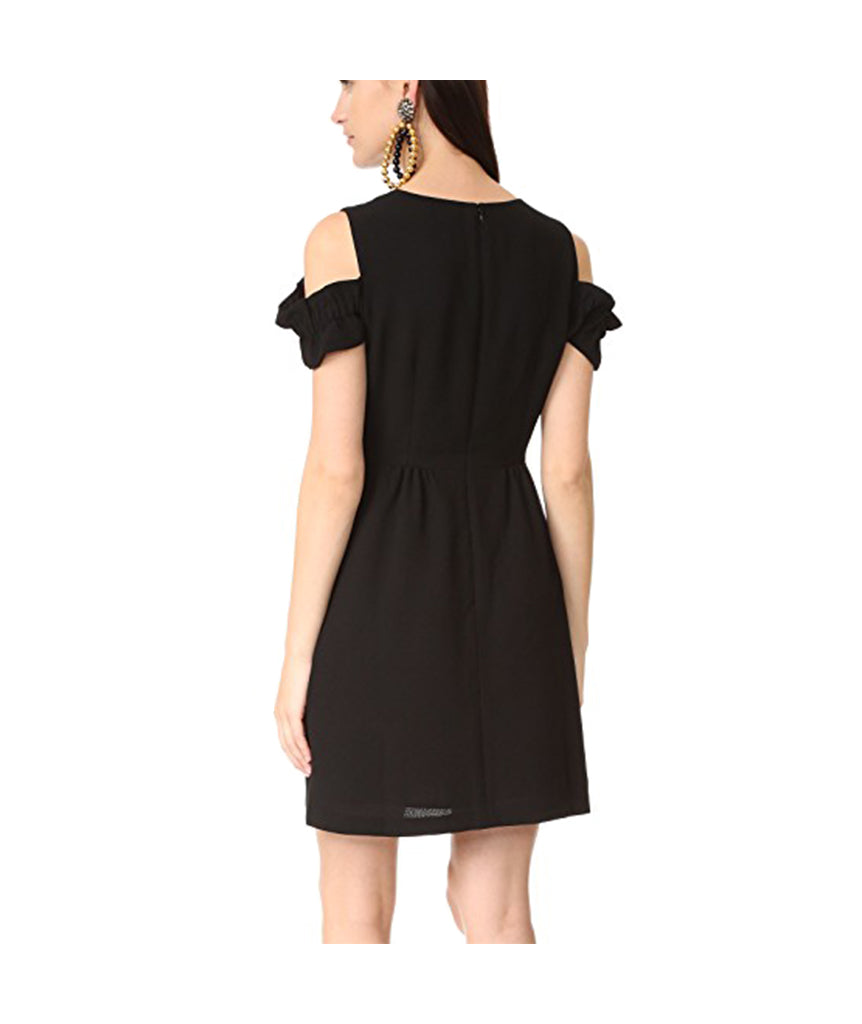 Club Monaco Black Cold Shoulder - Boro Dress Rentals