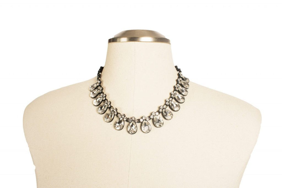 J Crew Diamond Statement Necklace - Boro Dress Rentals