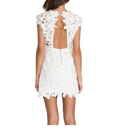 Dolce Vita White Lace - Boro Dress Rentals