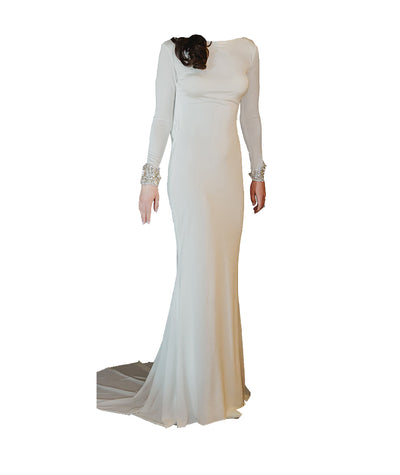 Tarik Ediz White Gown - Boro Dress Rentals