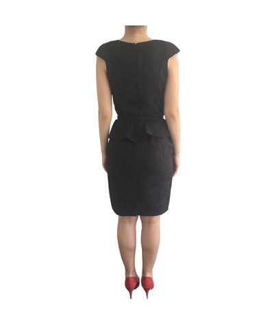 Eva Franco Black Peplum - Boro Dress Rentals