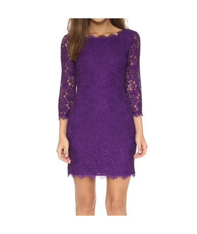 DVF Purple Lace Dress - Boro Dress Rentals