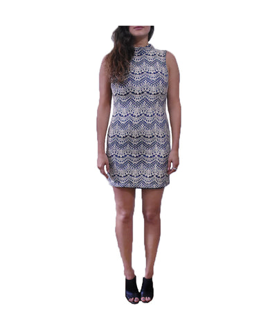 Topshop Navy Lace Dress - Boro Dress Rentals
