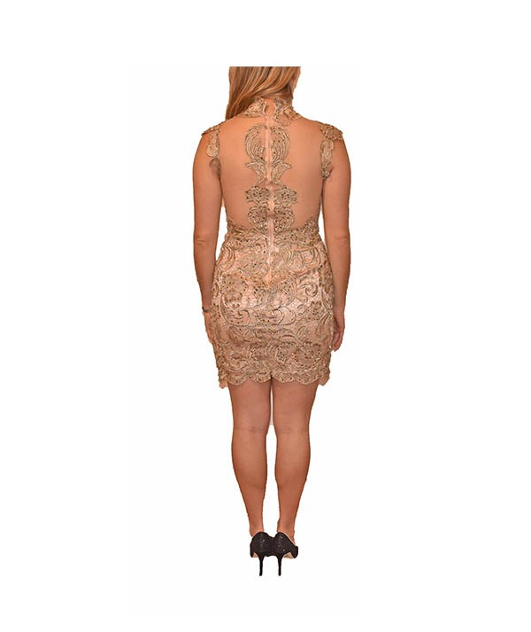 Sherri Hill Gold Mesh - Boro Dress Rentals