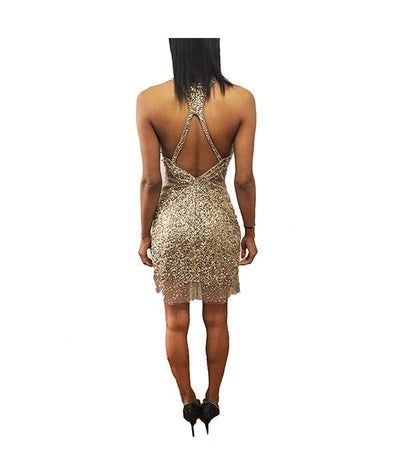 Boutique Gold Sequin - Boro Dress Rentals