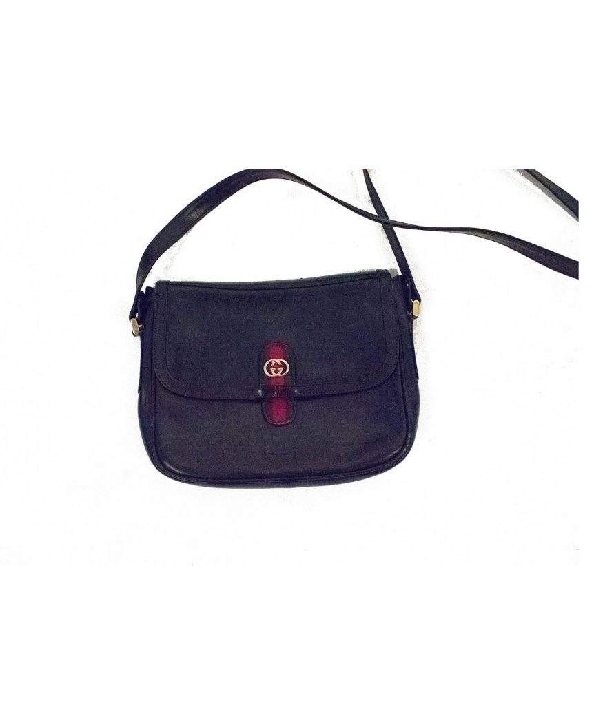 Gucci Vintage Leather Crossbody - Boro Dress Rentals