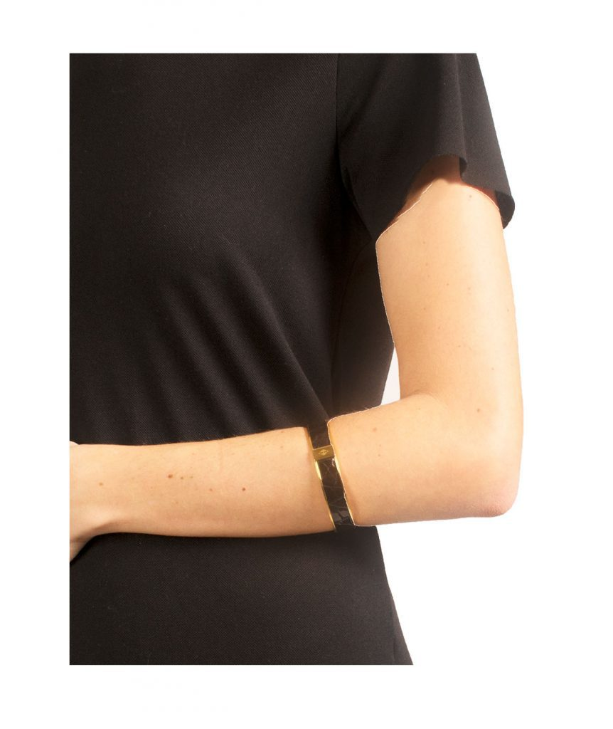 Hermes Black Crocodile Bangle - Boro Dress Rentals