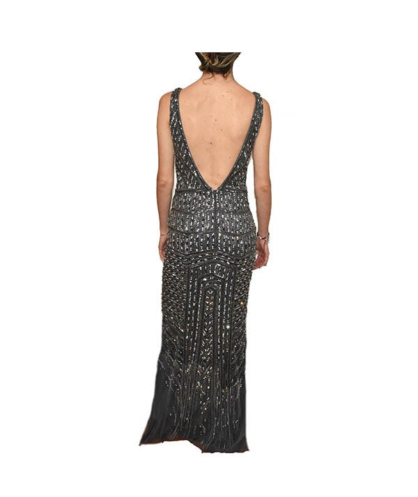 Jovani Deep V Gown - Boro Dress Rentals