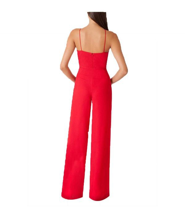 Black Halo Red Jumpsuit