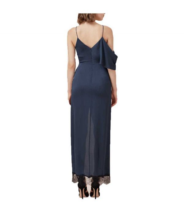 Keepsake Navy Asymmetrical - Boro Dress Rentals